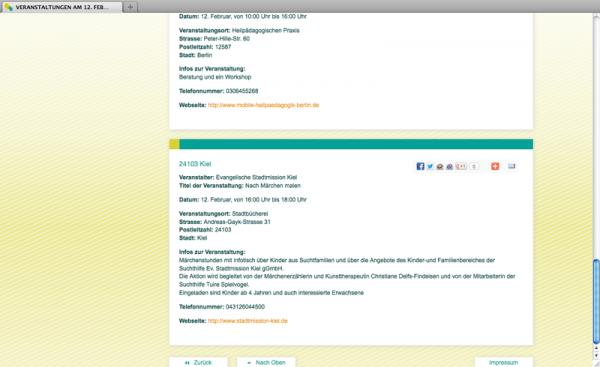 Programmierung Webseite coa-aktionswoche