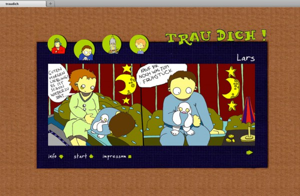 Animation Webseite Traudich