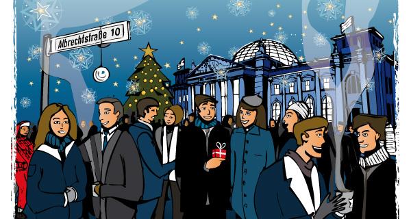 Weihnachtsnewsletter-Design