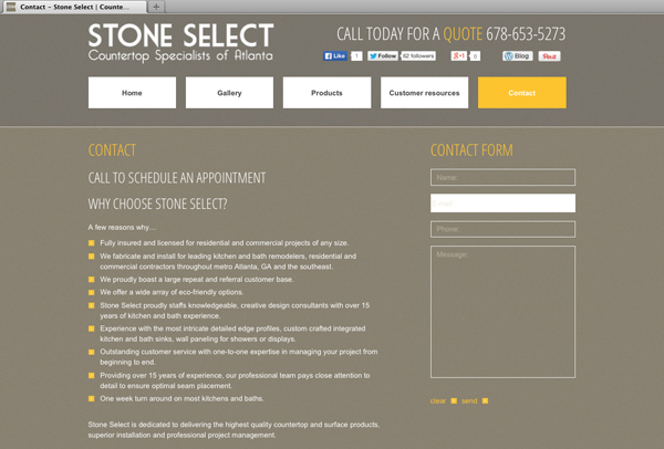 Website-for-Stone-Select-contact