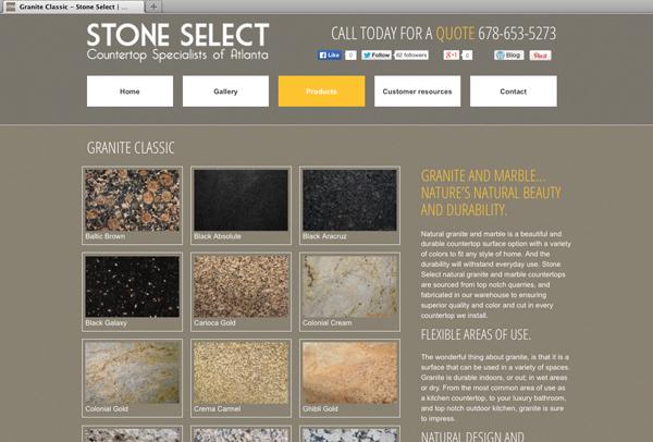 Bild Website-for-Stone-Select