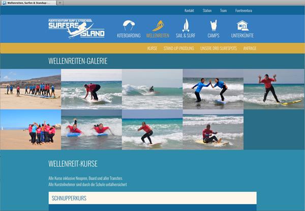 Webentwicklung-Masonry-Website-Surfschule