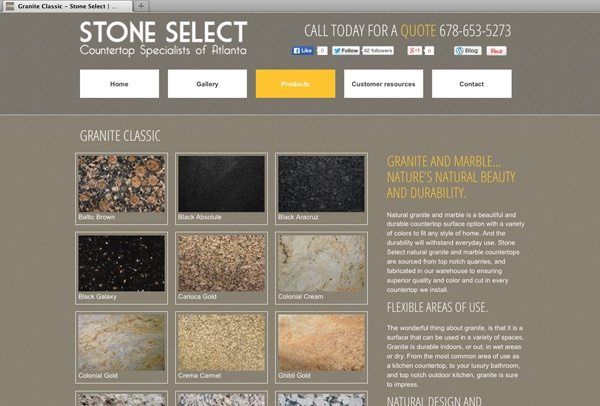 Website-for-Stone-Select-products