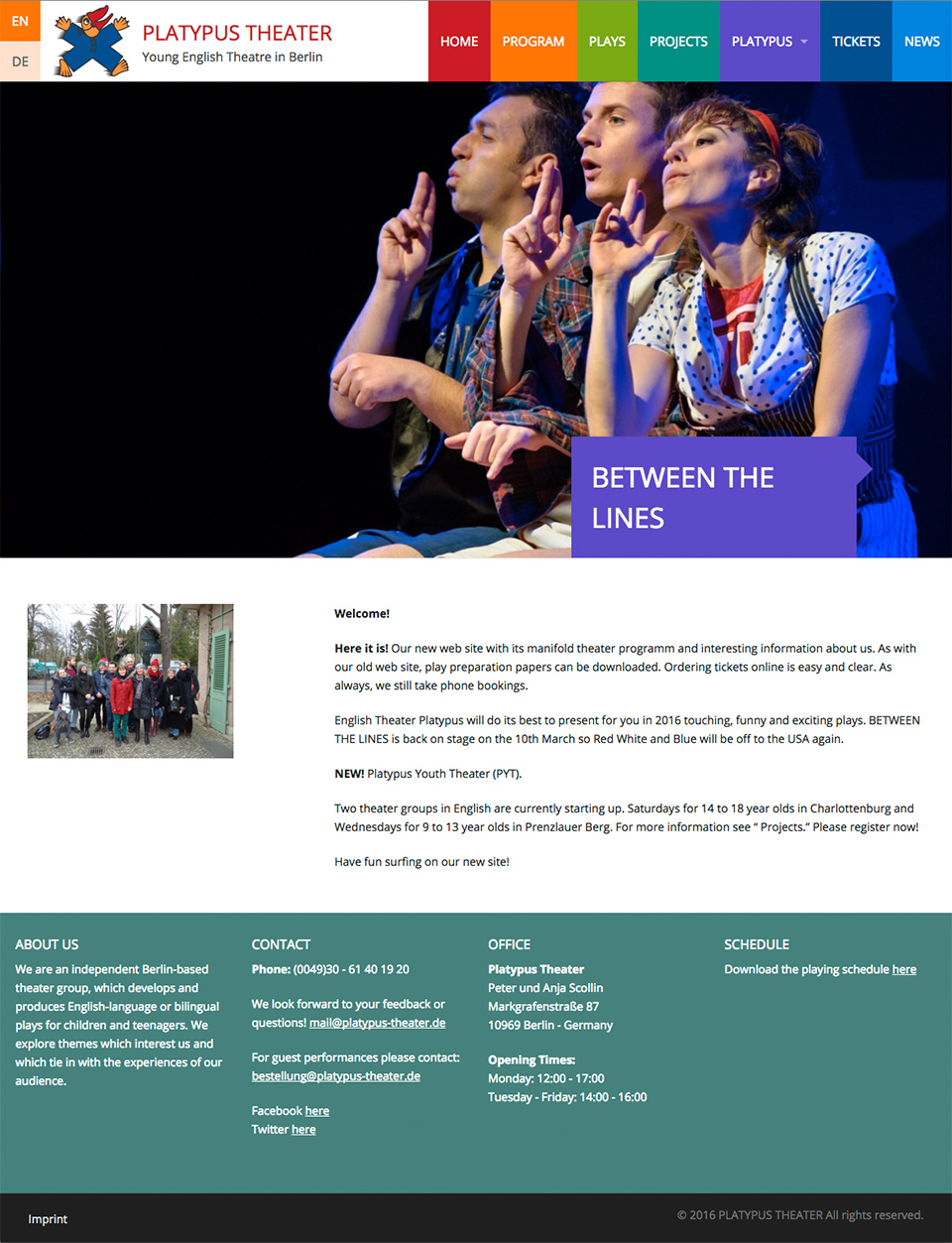 webdesign-homepage-platypus-theater